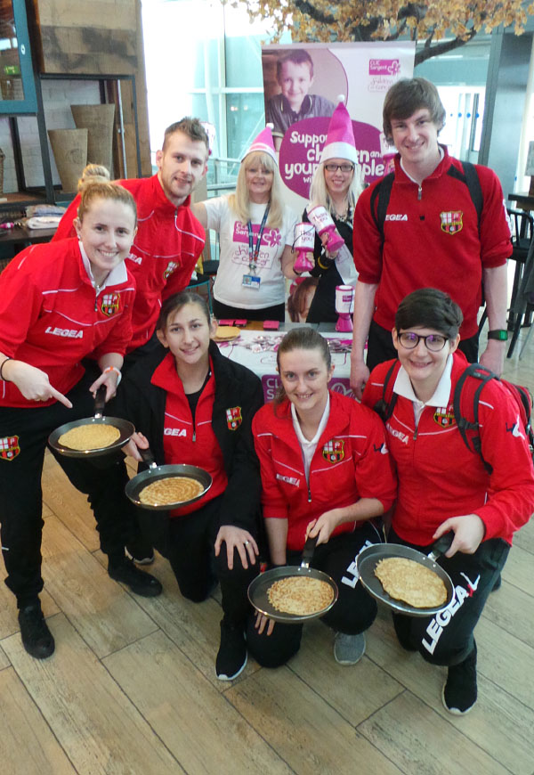 Airport passengers go flippin' crazy for Pancake Day